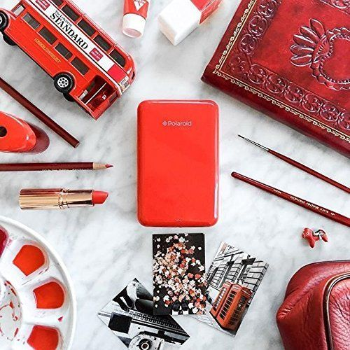 Amazon.com : Polaroid ZIP Mobile Printer w/ZINK Zero Ink Printing Technology - Compatible w/iOS & Android Devices - Red : Camera & Photo