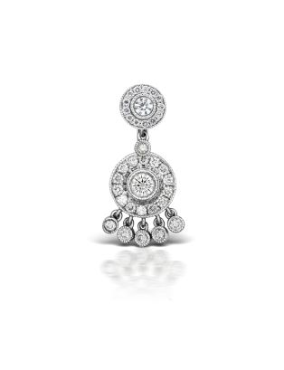 7-10 Diamond Ice Pave with Top and 5-Dangle Barbell Image #1
