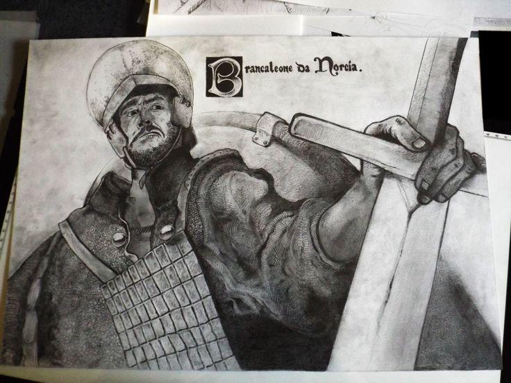 Brancaleone da Norcia Pencil on paper