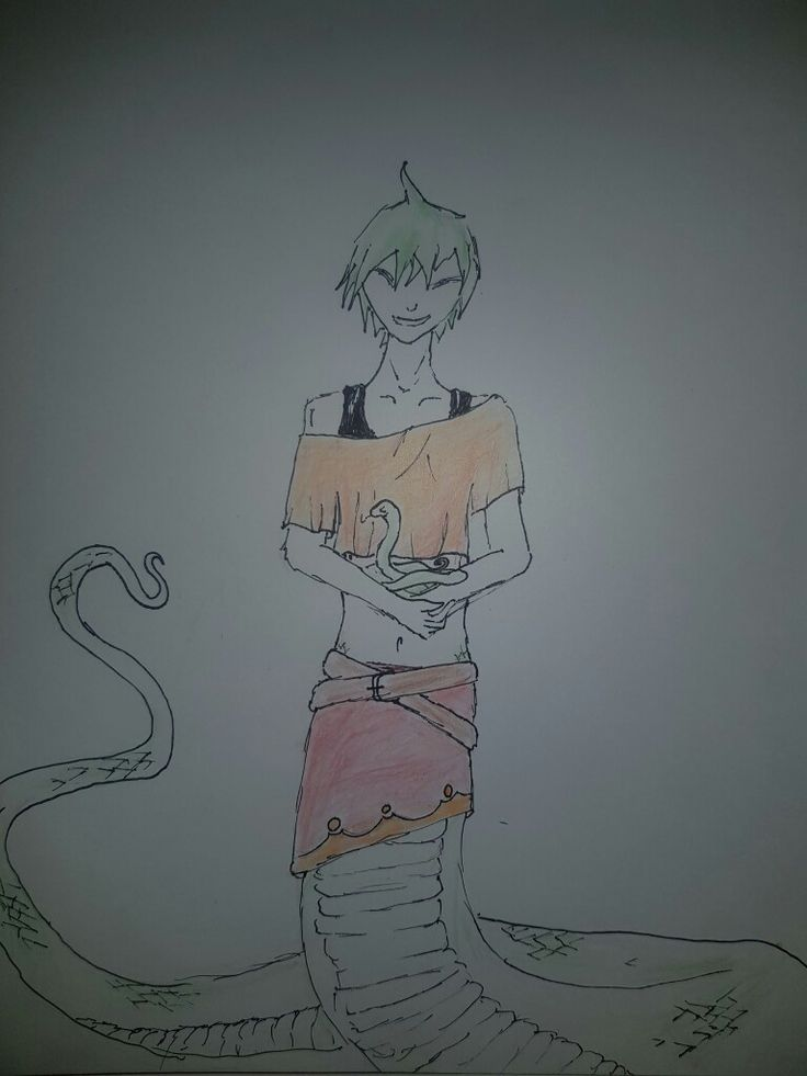 Naga I drew, trying to learn color