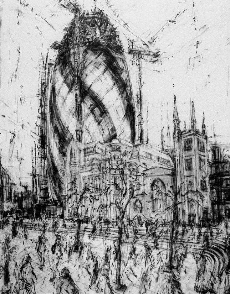 The Gherkin St.Mary Axe 150 x 212cms