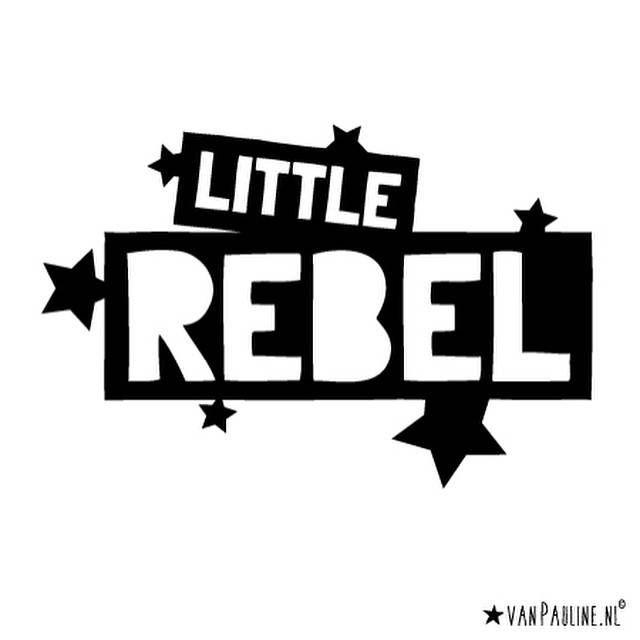 vanPauline shirt Little Rebel in zwart met korte mouw - gratis verzending