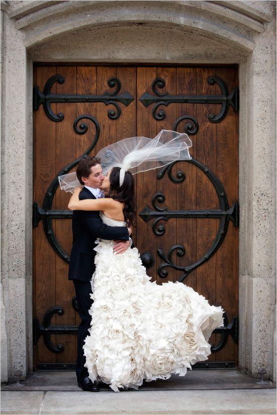 Romantic smooch captured by Catherine Hall Studios. #wchappyhour #weddingchicks http://www.weddingchicks.com/2014/08/01/wedding-chicks-happy-hour-34/