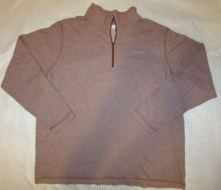 Columbia Sportswear Men's Lightweight Quarter Zip L/Sleeve Shirt Brown Marl XXL #Columbia #HalfZip
