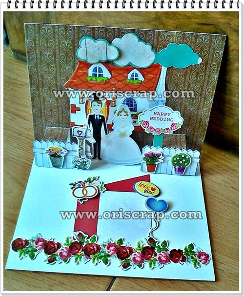 kartu ucapan wedding #scrapbookindonesia #kartuucapanpopup3D #popupcard #jualpopup #jualanku #kartuucapan #jasapopup