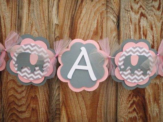 elephant banner itu0027s a girl banner baby shower by