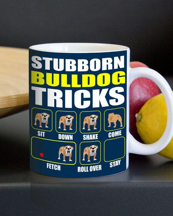 Taza de Bulldog Inglés  Trucos difíciles Bulldog  Divertido