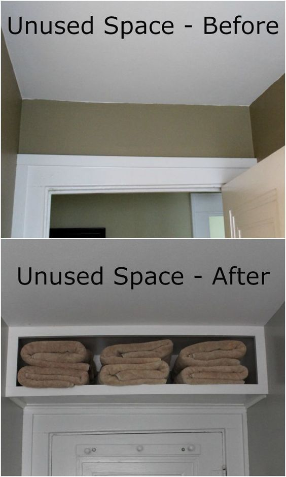 over door bathroom storage idea - get more space in a small bathroom - DIY bathroom organization hacks