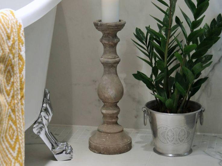 Velg marmorfliser på gulvet og badekar med løveføtter! #flisekompaniet