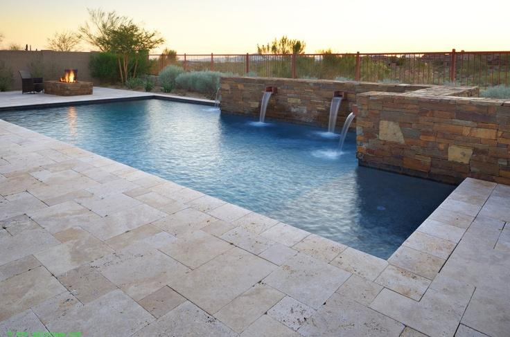 Beautiful pool and fountain.