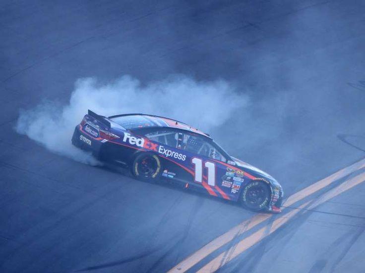 Best of the 2016 Daytona 500:     Denny Hamlin celebrates with a burnout after winning  -   Denny Hamlin celebrates with a burnout after winning the closest finish in Daytona 500 history.