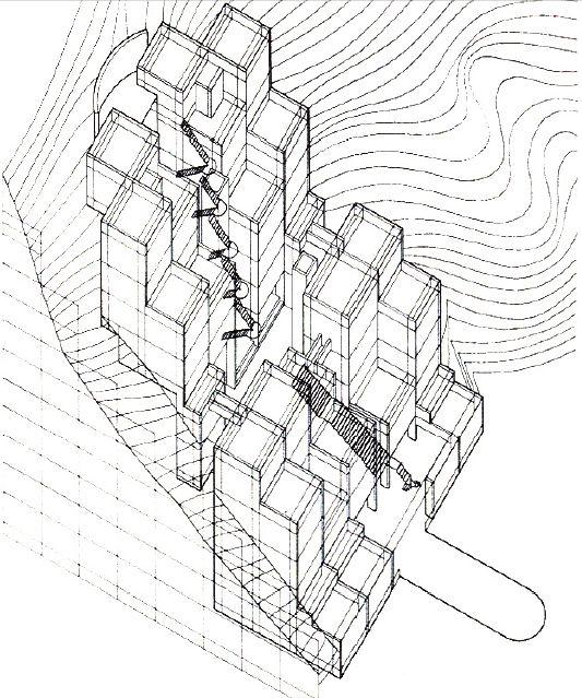 "Rokko HousingTadao Ando ""Ando's housing complex...   ARCH BUCKET LIST"