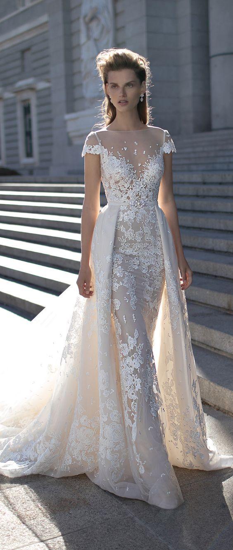 Cap Sleeves Wedding Dress by Berta Spring 2016 / http://www.deerpearlflowers.com/wedding-dresses-with-cap-sleeves/
