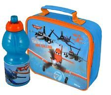 Official - Disney Planes School Lunch Bag Box and Plastic Water Drinks Bottle