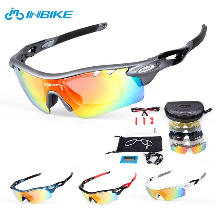 INBIKE Cycling Eyewear Cycling Glasses 5 Lens Cycling Sunglasses Bike Sports Eyewear Bicycle Glasses Polarized Sport Glasses 35 #Affiliate