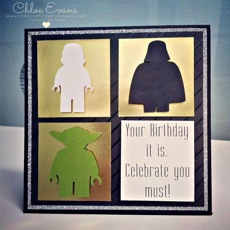 Chlo's Craft Closet - Stampin' Up! Demonstrator: Lego Star Wars Birthday Card
