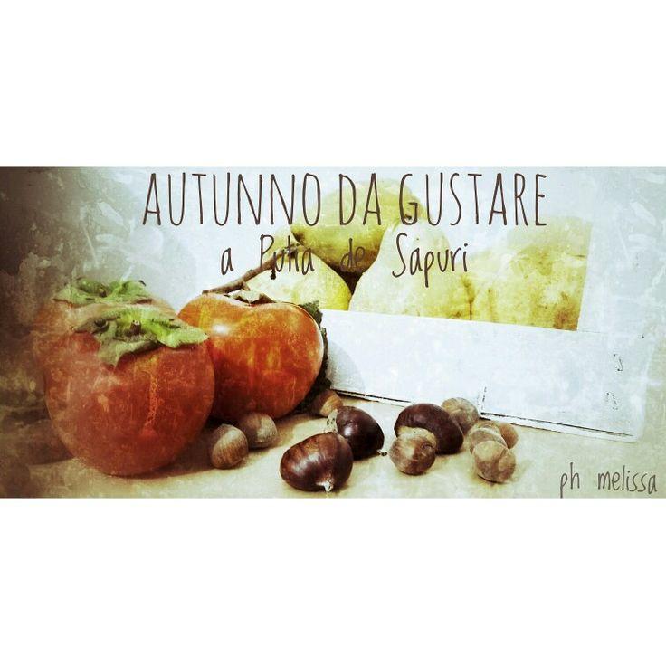 Autunno da gustare. frutta di stagione: loti, castagne e mele cotogne