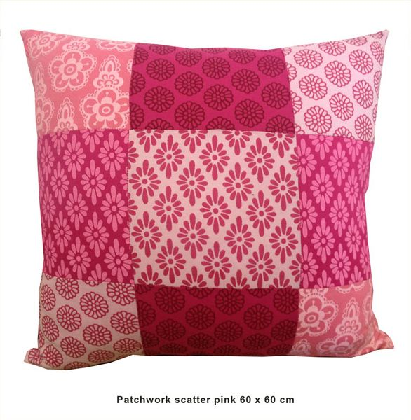 Sillybilly Patchwork scatter Pink