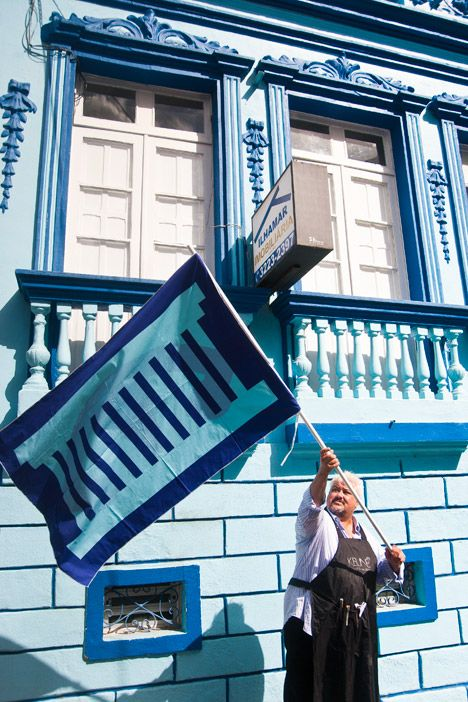Thonik creates flags based on Brazilian architecture for design biennial.