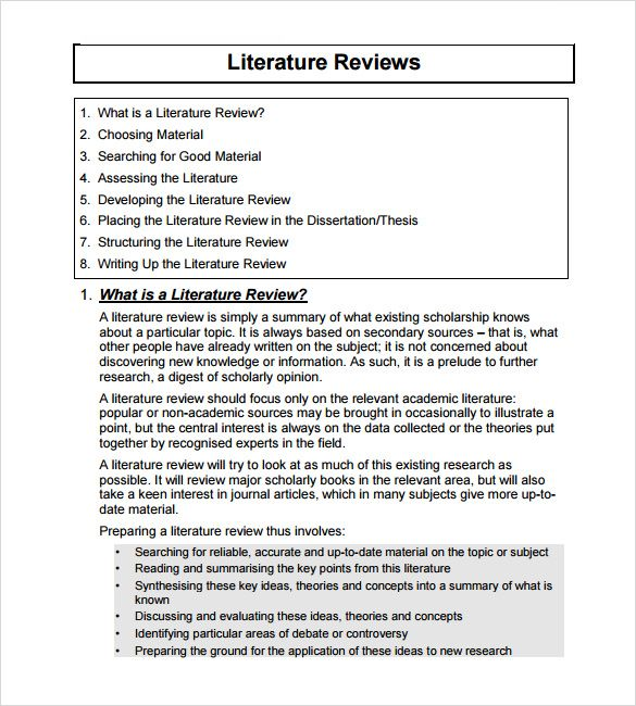 8 Best Literature Review Images On Pinterest | Literature