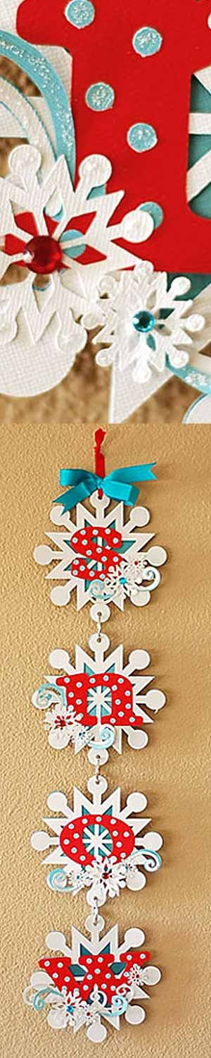 Accent Essentials Cartridge snowflake wallhanging - initial on an ornament