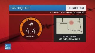 A Pair of Earthquakes Strike North-Central Oklahoma Saturday; Felt in Wichita, Oklahoma City, Tulsa - weather.com