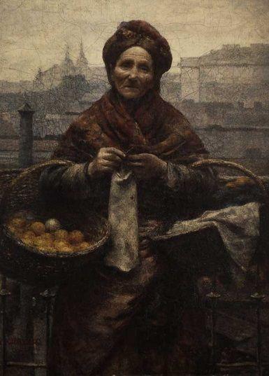 Aleksander Gierymski, Żydówka z cytrynami (Pomarańczarka), 1881.  Wystawa stała: Galeria Malarstwa Polskiego 1800-1945