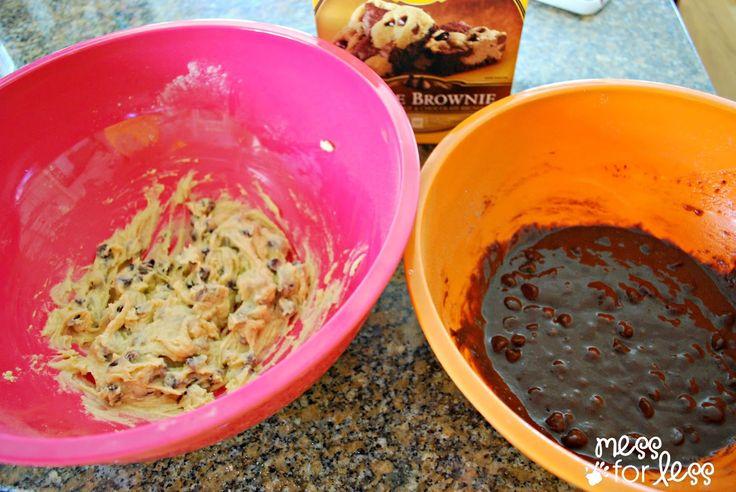 making Nestle Cookie Brownies #shop