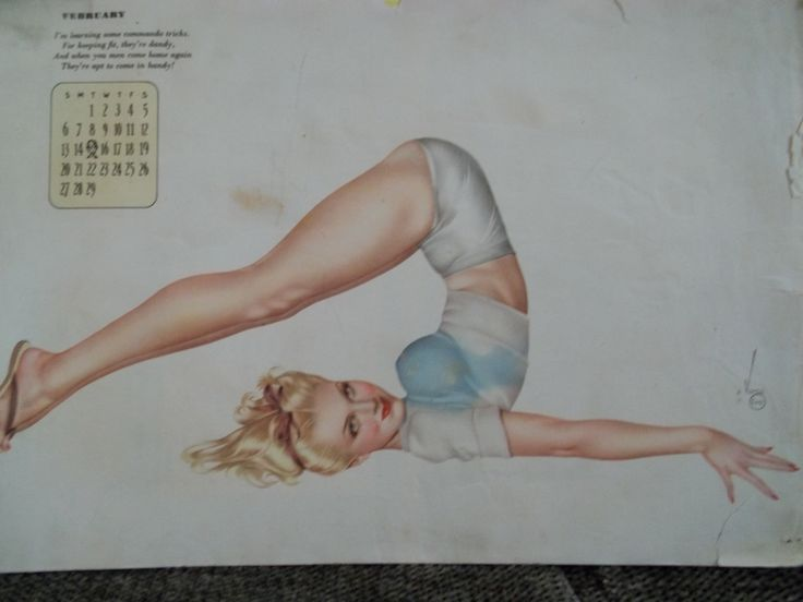 Calendar 1943 (style Pin-Ups) USA. I can sell. on Facebook - Mila Malozhon (Taganrog, Russia).