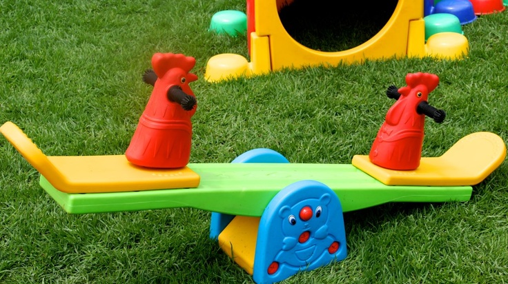 Animal see saws in Creative Collective mobile kids play parks - perfect play equipment for the smaller children