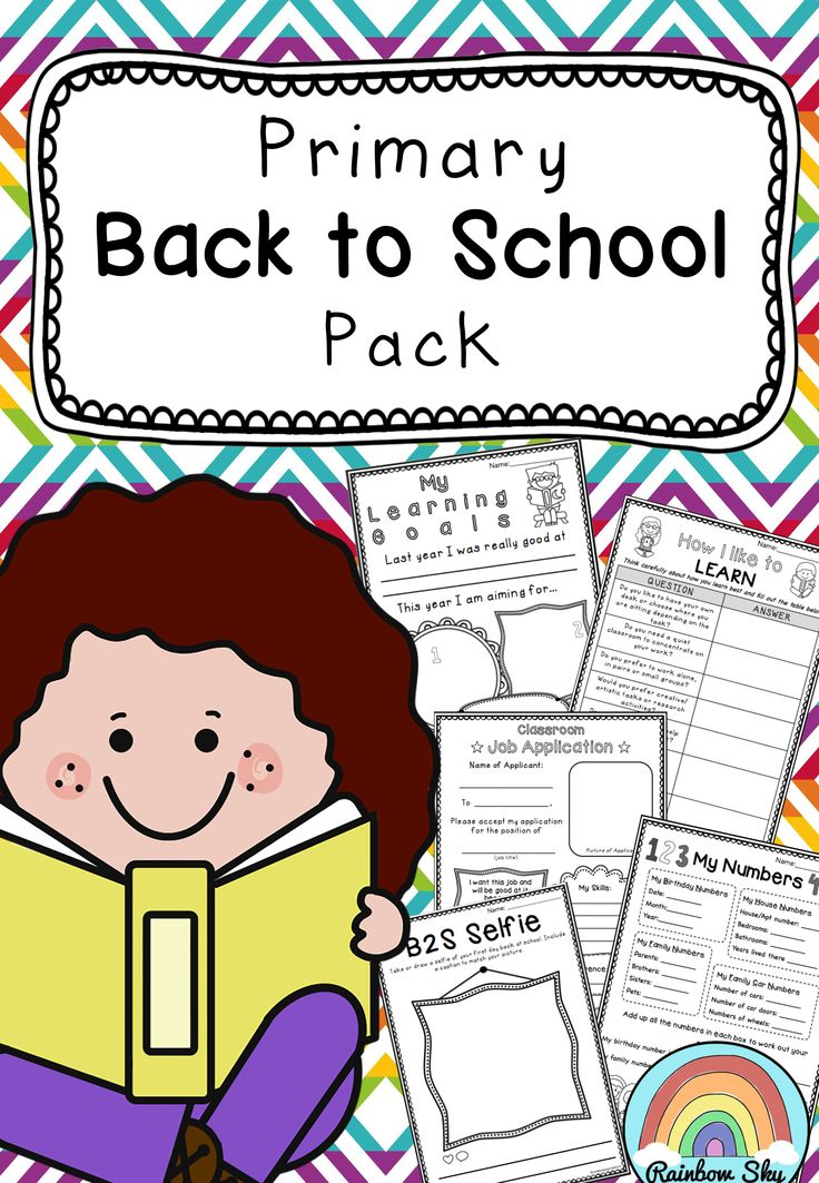 Back to school activity pack for  Year 3 - 6. Creative thinking literacy and Math activities to help you to get to know your class. ~ Rainbow Sky Creations ~