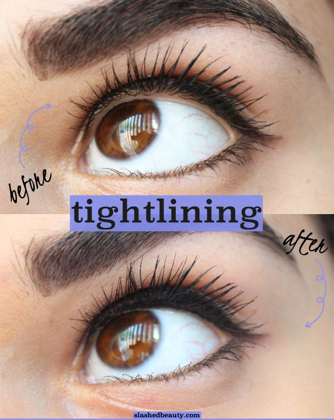 Tightlining can give your eye makeup a much more professional and pulled together look. Click through for my top tips on how to tightline and the 5 best drugstore eyeliners for the job! | Slashed Beauty
