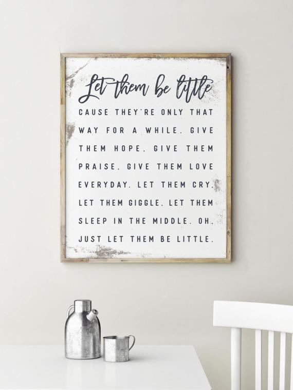 Let Them Be Little Sign, Let Them Be Little, Hallway Decor, Kitchen Signs, Hallway Sign // by PrintablesbyOakHouse