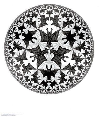 """M.C. Escher """"Kreislimit IV"""" Engel und Teufel"""