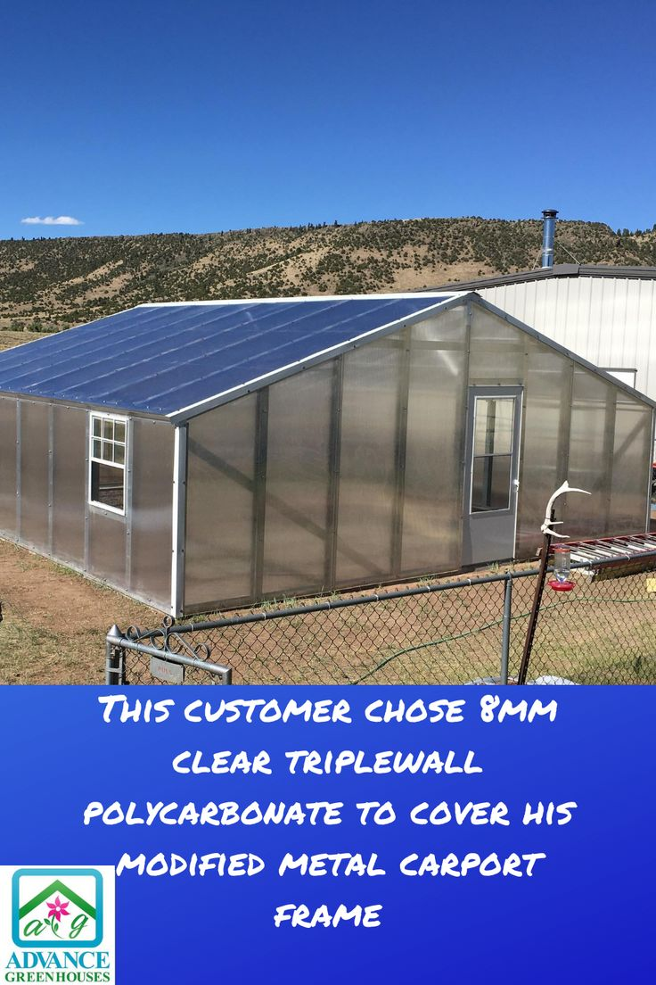 8mm Clear Triplewall Greenhouse in 2020 Polycarbonate