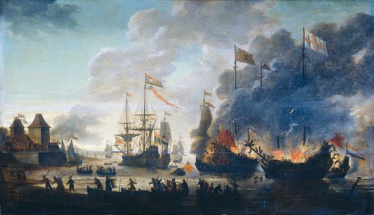 Anglo Dutch Wars the raid on the Medway