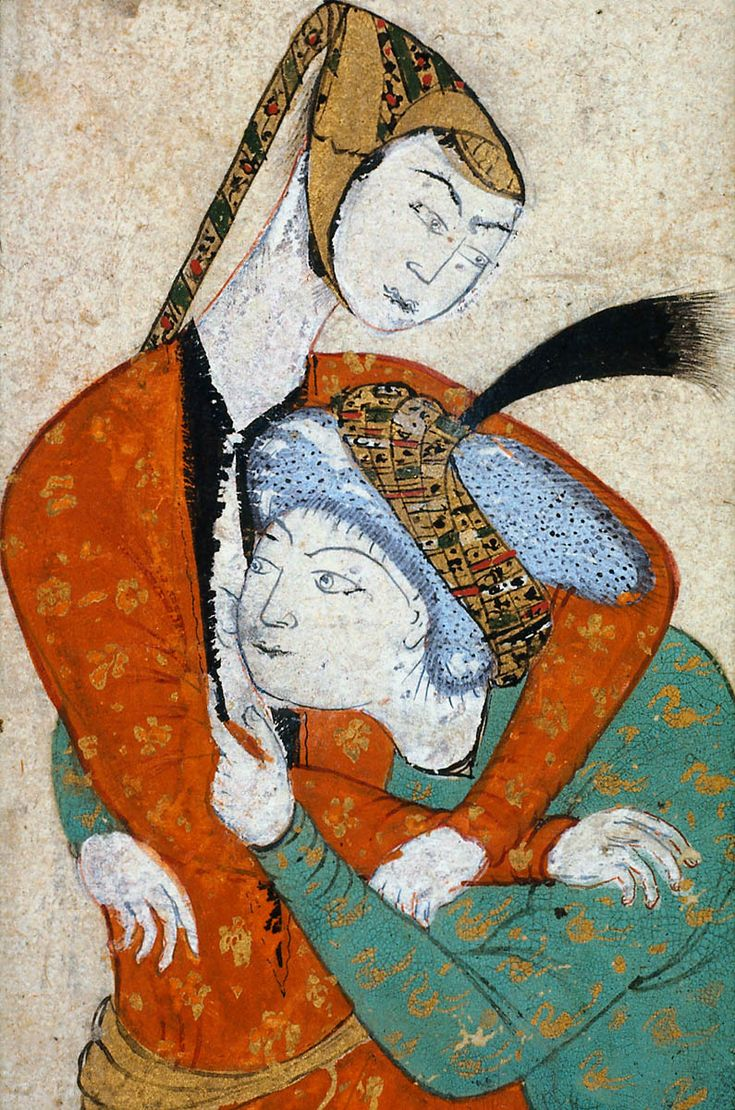 Man and Woman Embracing Persian 16th century Object Place, Iran 11.8 x 20.0 cm…