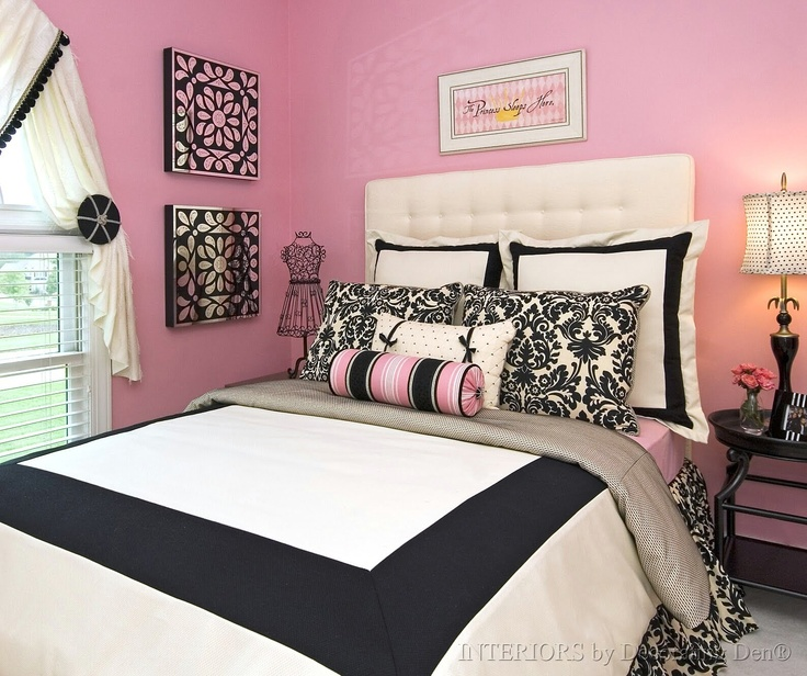 Best 25+ Pink Black Bedrooms Ideas On Pinterest   Pink Teen Bedrooms, Black  Gold Decor And Teen Bedroom Colors