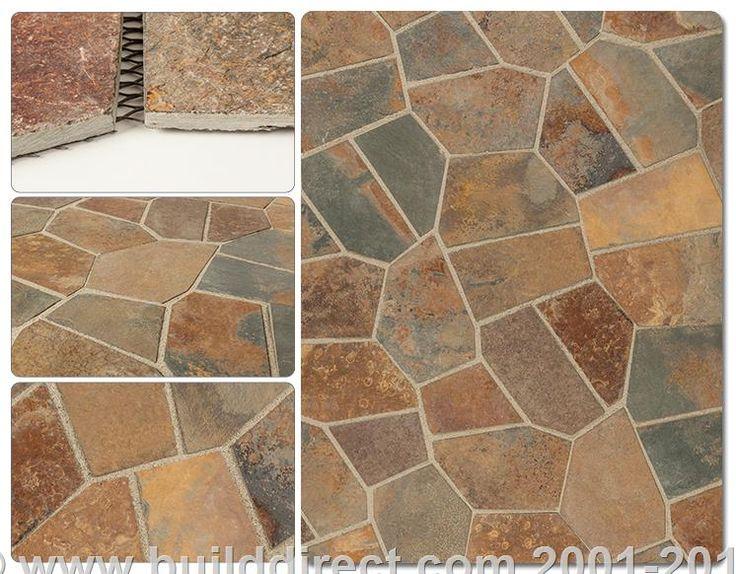 Roterra slate tile meshed back patterns colors multi for Slate floor patterns