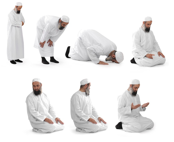 Steps during prayer | Muslim Praying | Pinterest | Prayer ...