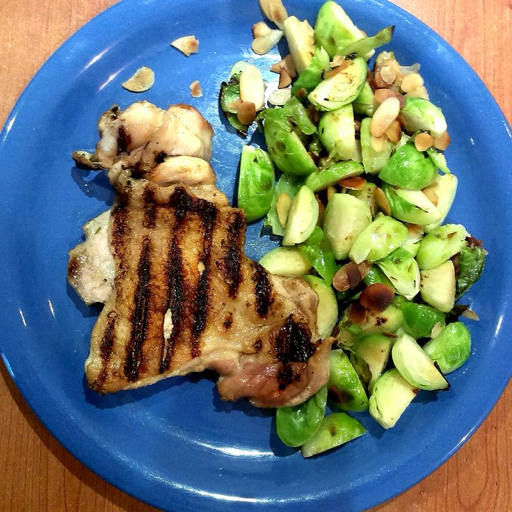 #grill #chicken #brussel #sprouts #foodcoaching