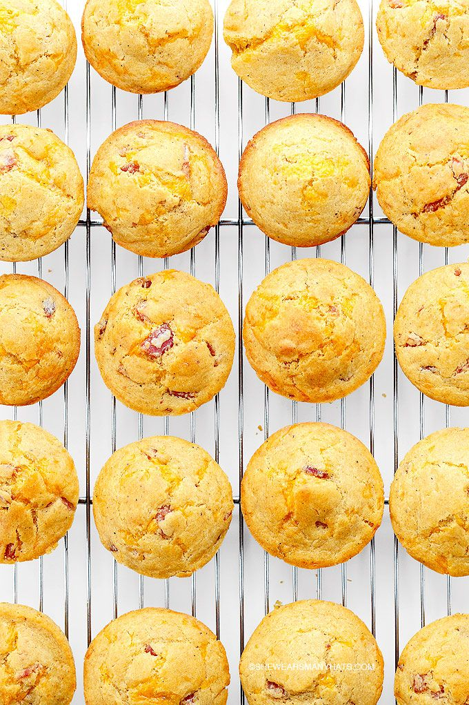 Ham Cheese Breakfast Muffins Recipe @Amy Johnson / She Wears Many Hats