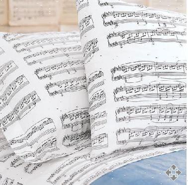 Music notes bed sheets britt pinterest bed sheets beds and music notes - Music notes comforter ...