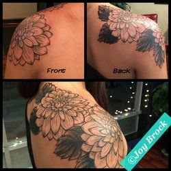 dahlia shoulder tattoo - Google Search