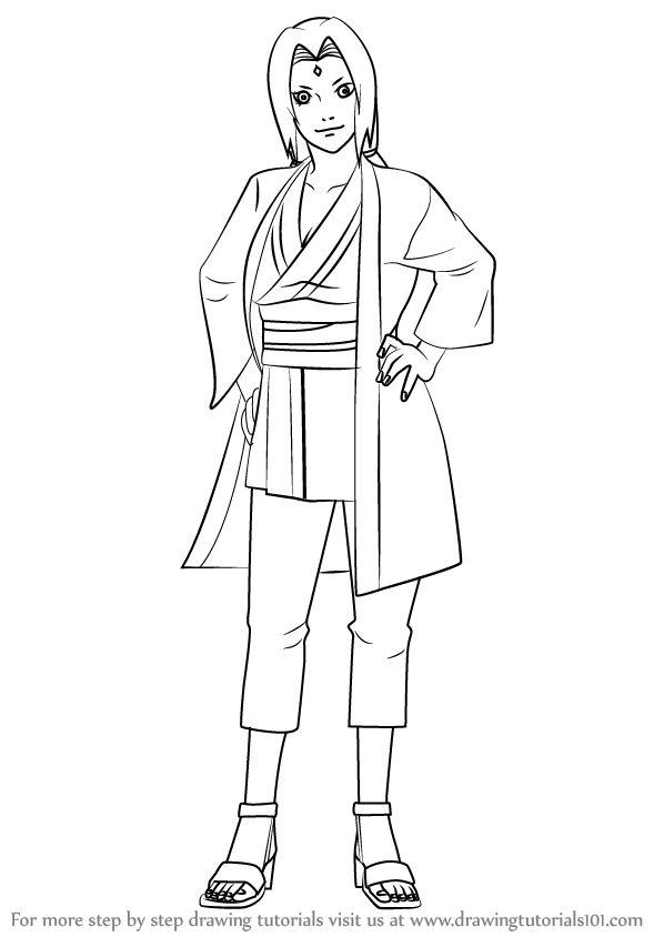 how to draw shikamaru step by step