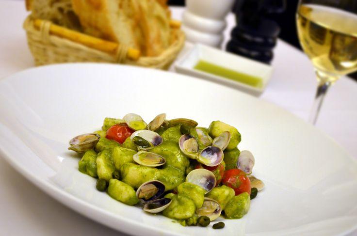 Restaurant Bresto - new menu 2017 - POTATO GNOCCHI with vongole lupini