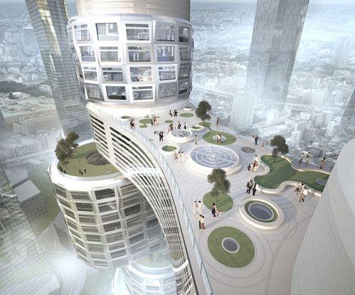 Velo Towers, future building, Asymptote Architecture, Yongsan Park, South Korea, future architecture, tower, architecture, building, futuristic design, futuristic concept, innovation, modern design
