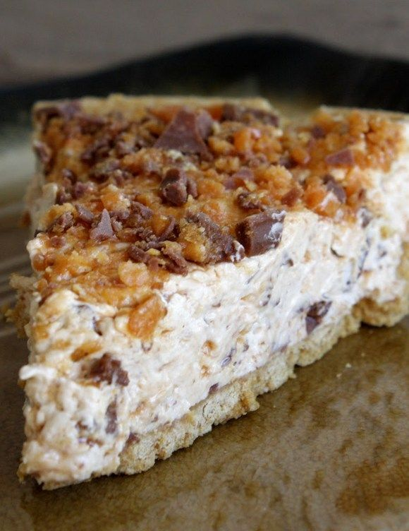 Butterfinger Pie – world's simplest and quickest pie.  It's incredible.