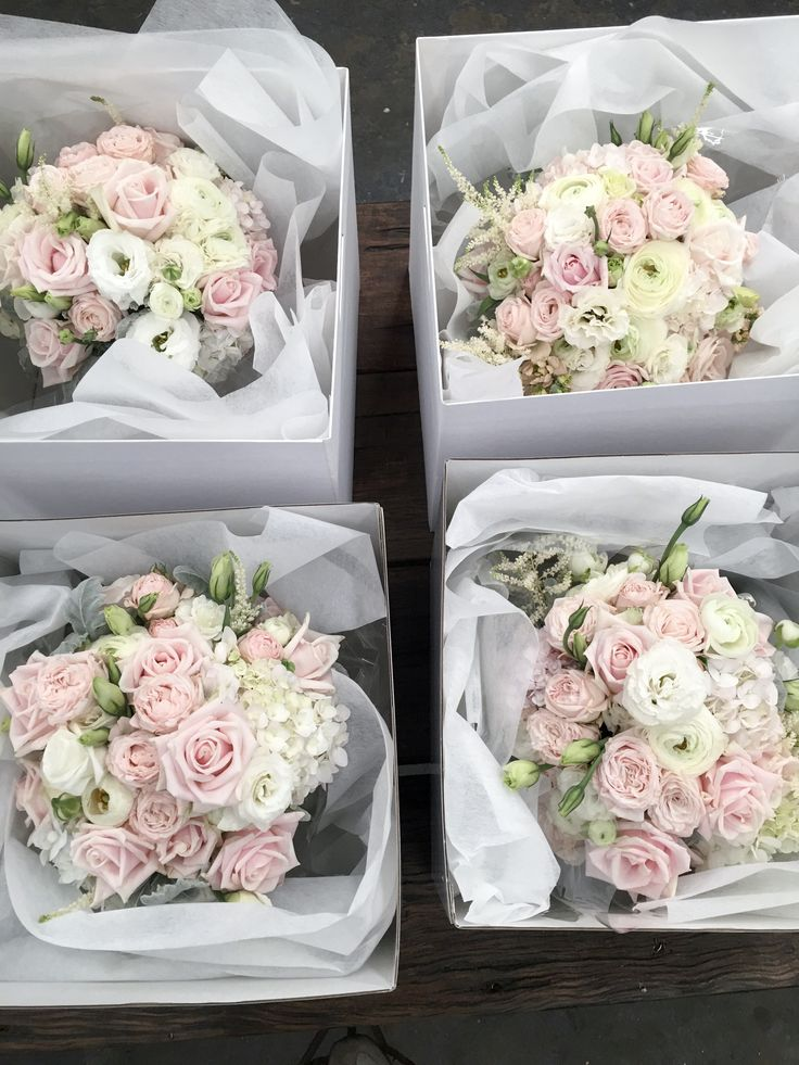 Romantic wedding bouquets in blush pink.  #sydneyweddingflowers #blushpinkwedding #sydneybridetobe