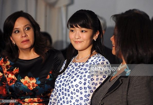 Japanese Princess Mako and Honduras' first lady Ana Garcia de Hernandez attend a concert at the National School of Music in Tegucigalpa, on December 9, 2015. AFP PHOTO / ORLANDO SIERRA / AFP /...
